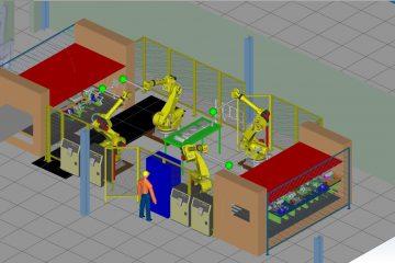 4 robot automation press line